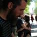 Música de Bell, hannd drum, para enamorados, bajo los castaños de El Retiro, Madrid